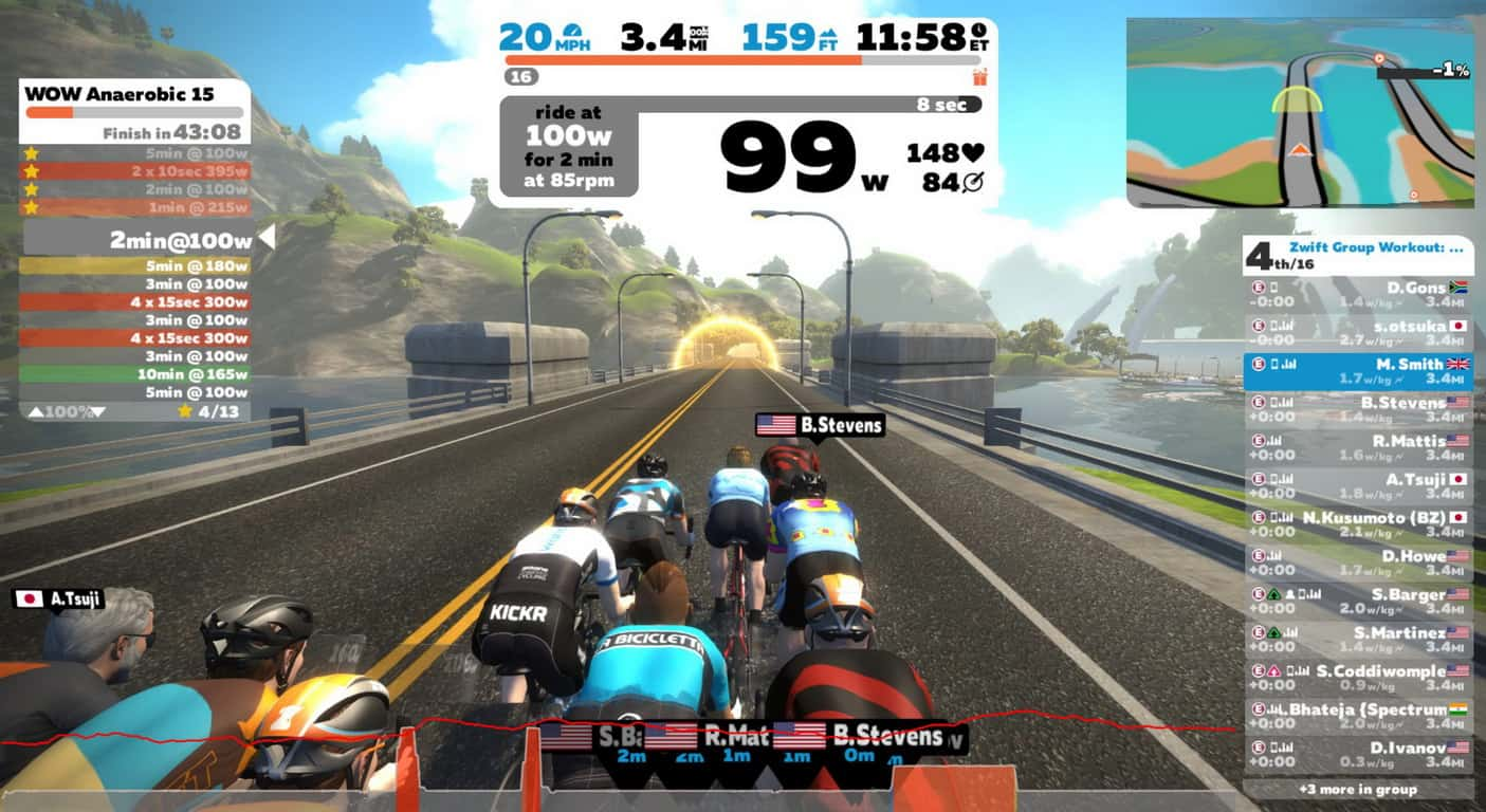 Zwift aplikasi dan game online e-race sepeda