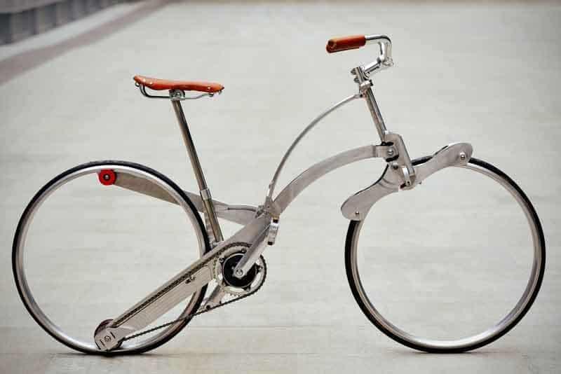 Sepeda dengan roda tanpa jari-jari