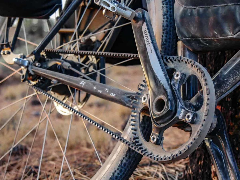Chainring sepeda khusus untuk drive belt
