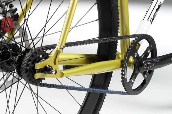 Split frame-rangka sepeda belah untuk drive belt