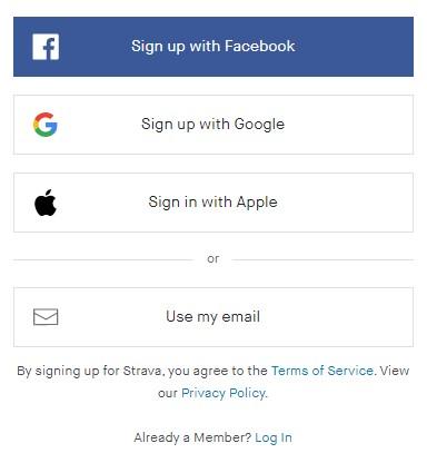 Daftar ke aplikasi Strava