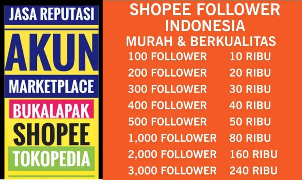 Follower dan reputasi untuk toko online marketplace