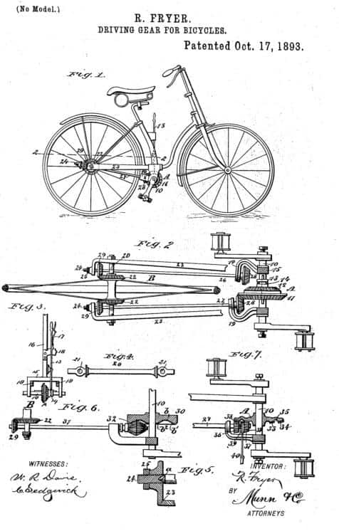 Patent untuk sepeda dengan drive shaft