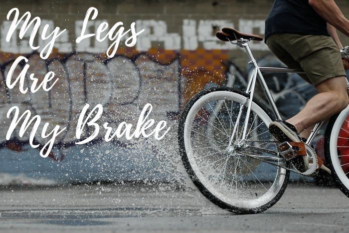 Rem kaki dengan sepeda fixed gear