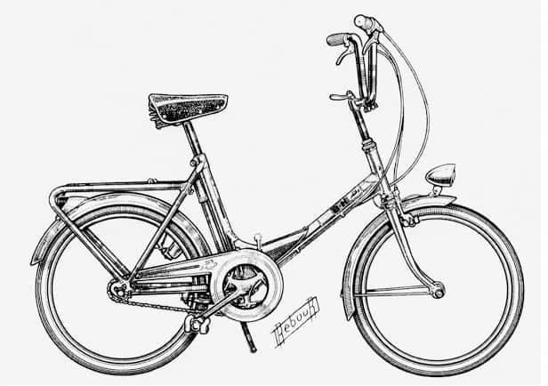 Sepeda mini dengan frame U