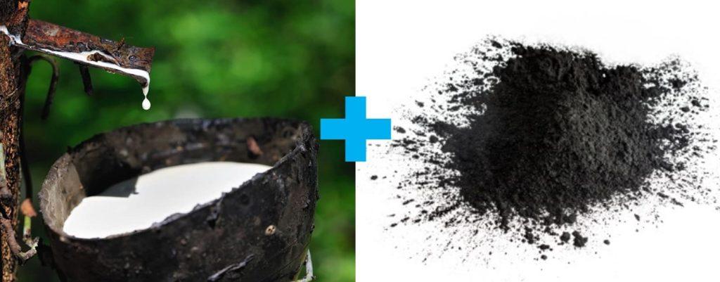 Bahan baku ban - Getah karet (lateks) dan karbon hitam