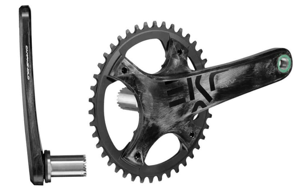 Crankset carbon single chainring narrow wide sepeda gravel