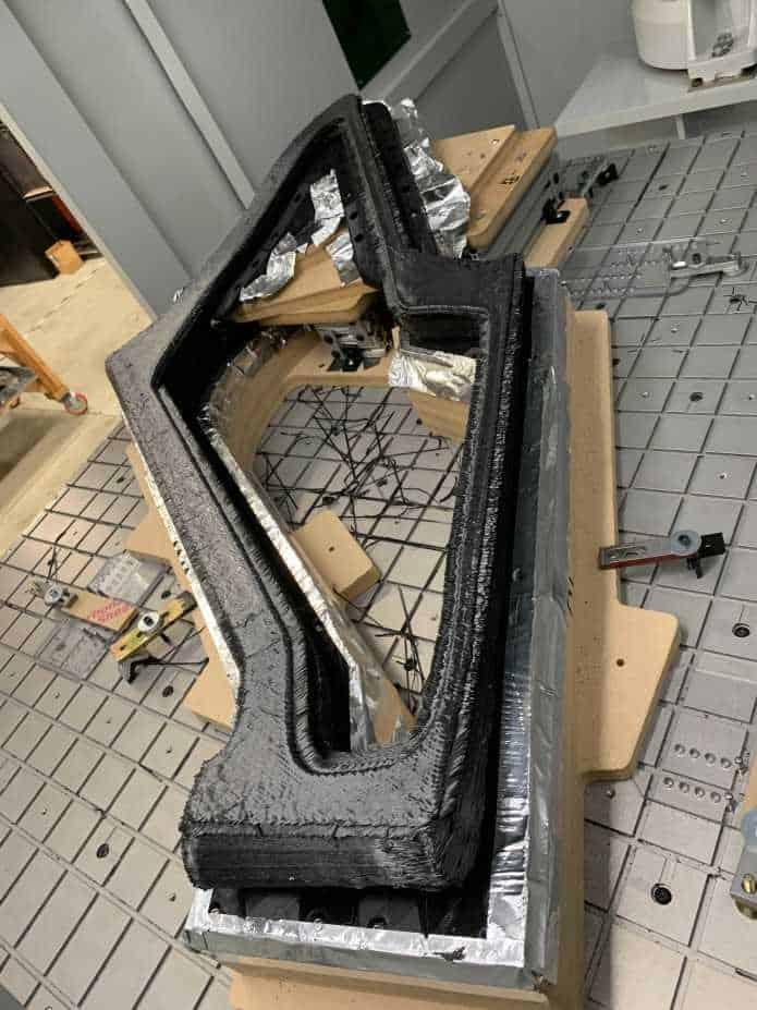 Hasil print 3D untuk frame karbon