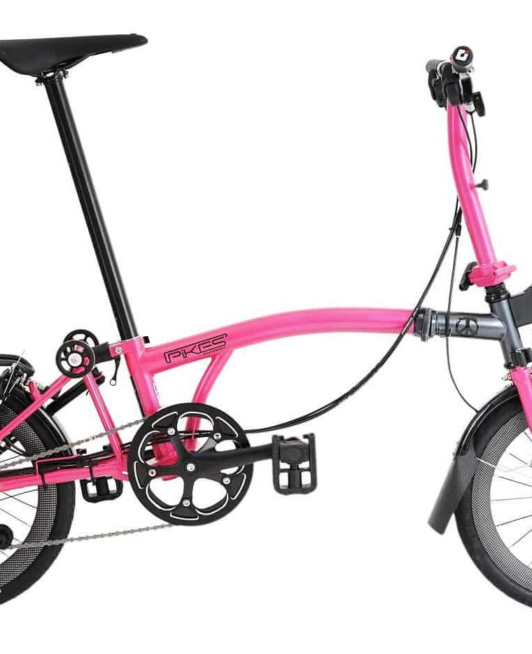 Sepeda Lipat (Seli_ Element Pikes Gen 2 Pink-Grey 2020