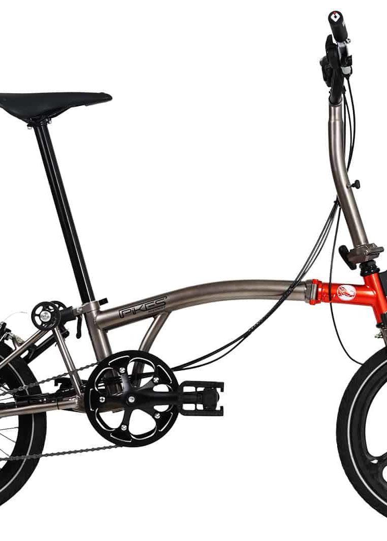 Sepeda Lipat (Seli) Element Pikes Gen 2 Red-Grey 2020