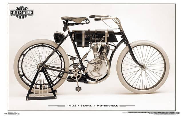 Motor tertua Harley Davidson Model 1